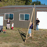 A-Frame Group Game with some family members