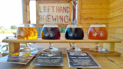 Left Hand Brewing Tasting Room sampler