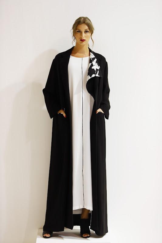 DUBAI, UNITED ARAB EMIRATES - APRIL 11:  A model poses  at the Bouguessa presentation during Dubai Fashion Forward April 2015 at Madinat Jumeirah on April 11, 2015 in Dubai, United Arab Emirates.  (Photo by Vittorio Zunino Celotto/Getty Images for Fashion Forward)