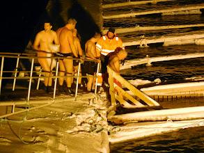 Photo: The men take the plunge