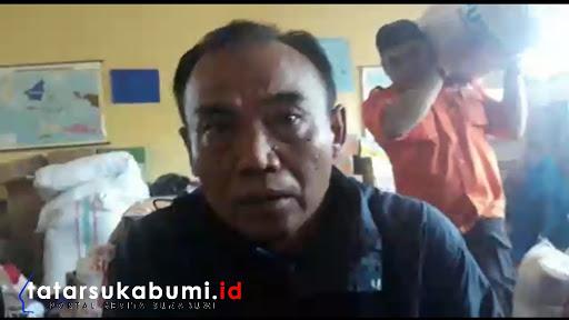 Kepala Bidang Kedaruratan BPBD Kabupaten Sukabumi, Maman Suherman/ Foto : Isep Panji (4/1/2019)