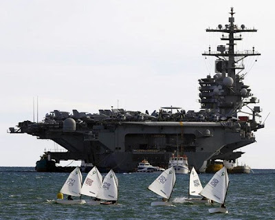 Navigationsundervisning for juniorer - hangarskibet har heldigvis ankerkugle