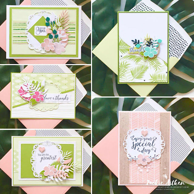 stampin up, tropical chic, tropical escape