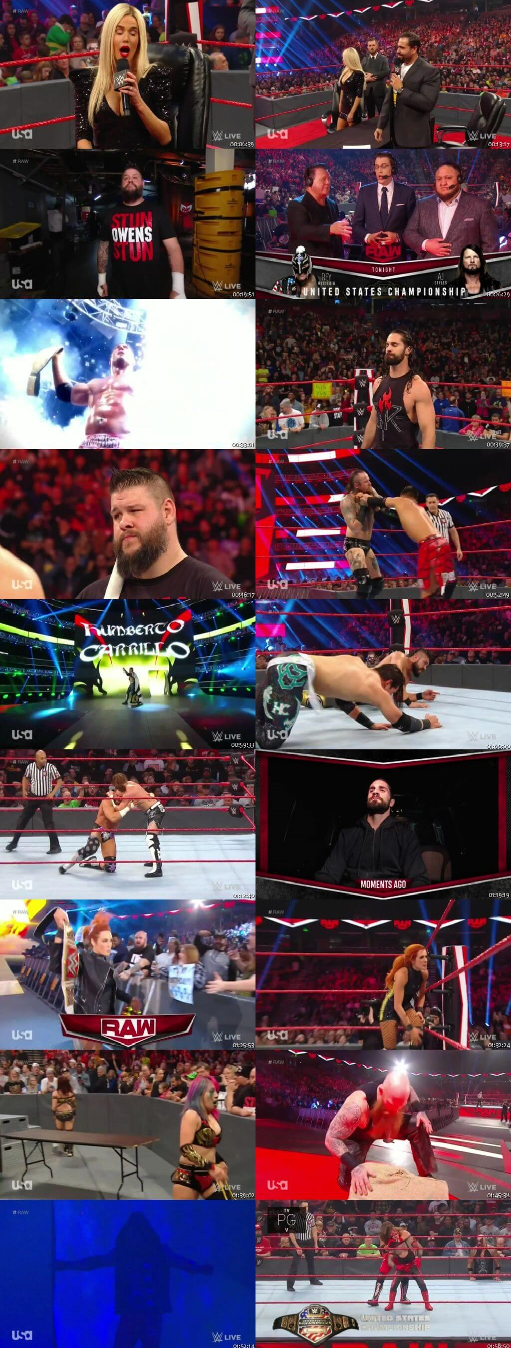 Screen Shot Of Wrestling TV Show WWE Monday Night Raw 9th December Watch Online Free Download
