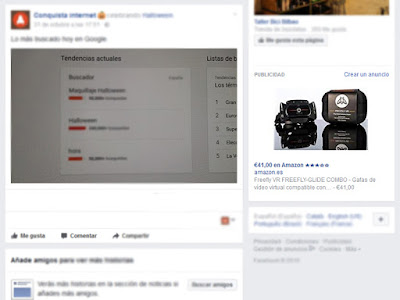Anuncio Facebook Conquista internet