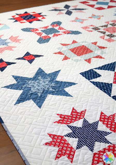 Two Simple longarm quilting found on A Bright Corner - pattern is Clear Sky by Andy Knowlton
