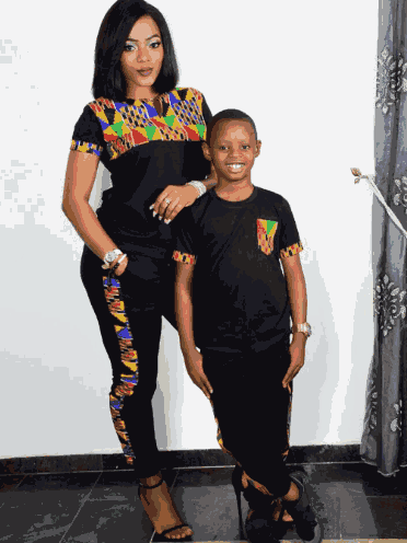 Lovely new photos of Basket Mouth's wife and their kids