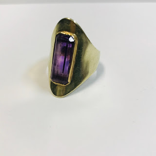 14K Gold and Amethyst Ring