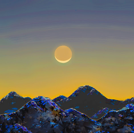 """The """"Moon over Mountains"""" piece from the """"2014"""" collection"""