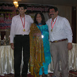 2008 Winter Nationals - THE OPEN PAIRS WINNERS FOR HOLKAR TROPHY Subhash Gupta & Raju Tolani with Chief Guest Mrs. Kiran Nadar