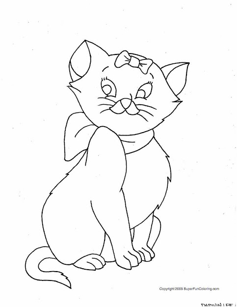 Cat Coloring Pages Printable Photo
