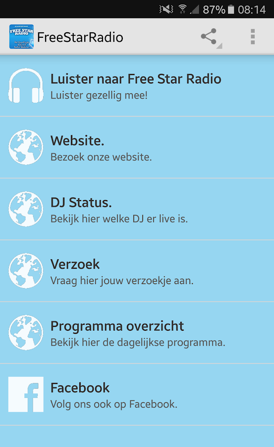 FreeStarRadio App- screenshot