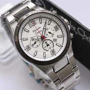 jam tangan Alexandre christie 6345MC silver