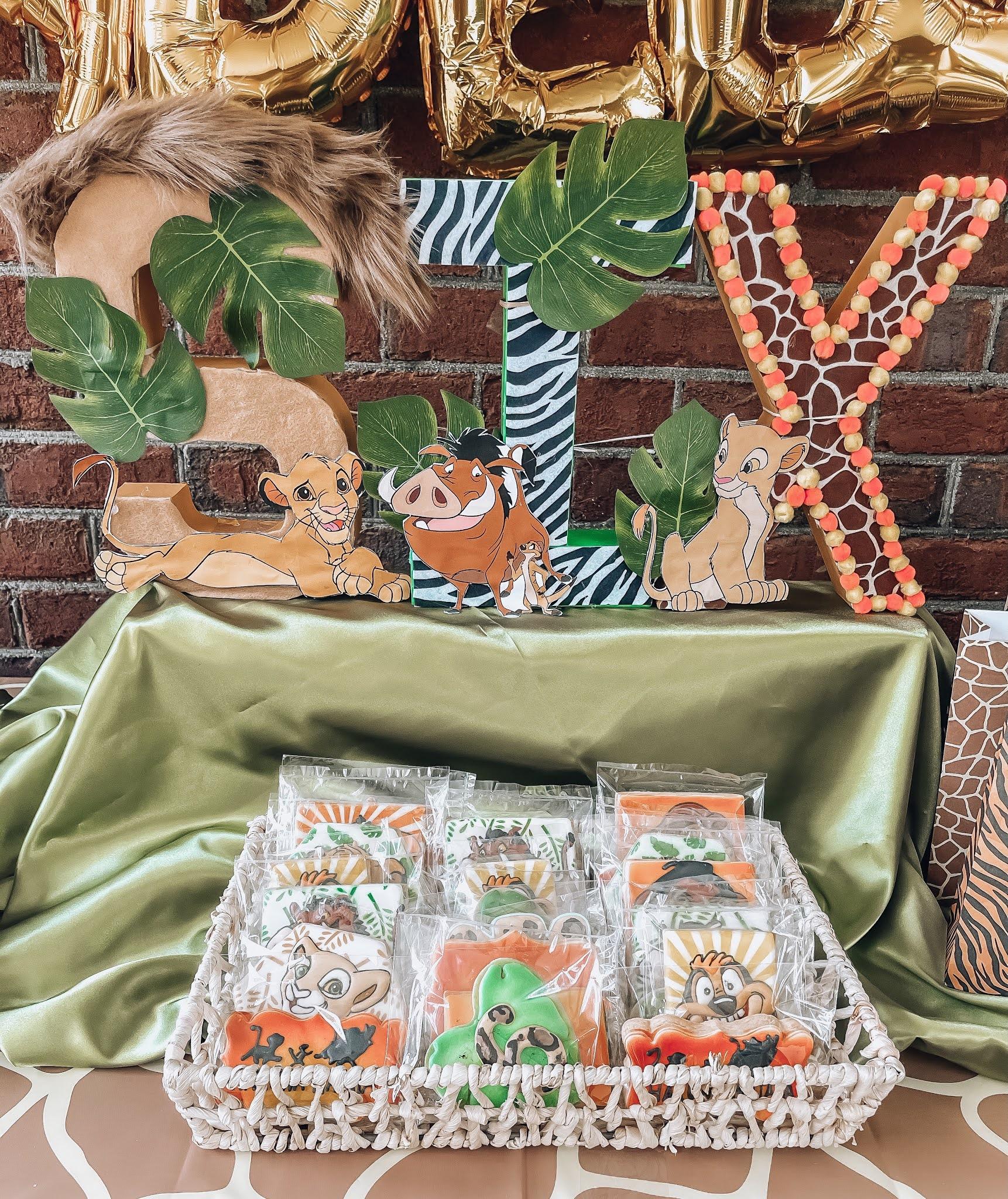 Madeline's Lion King 6th Birthday Party - Something Delightful Blog #partyideas #kidsbirthdayparty #lionkingparty #wildoneparty #safariparty #animalprintparty