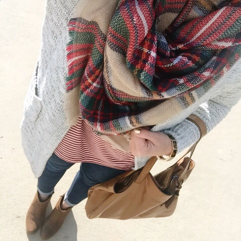 how to wear a blanket scarf, purehearts, collab
