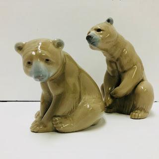 Lladro Bear Figurine Pair