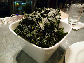Boka Seattle Crispy Kale with grated parmesan, lemon zest