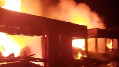 Pasar Baso Agam Dilalap Si Jago Merah, 24 Kedai Dilaporkan Ludes