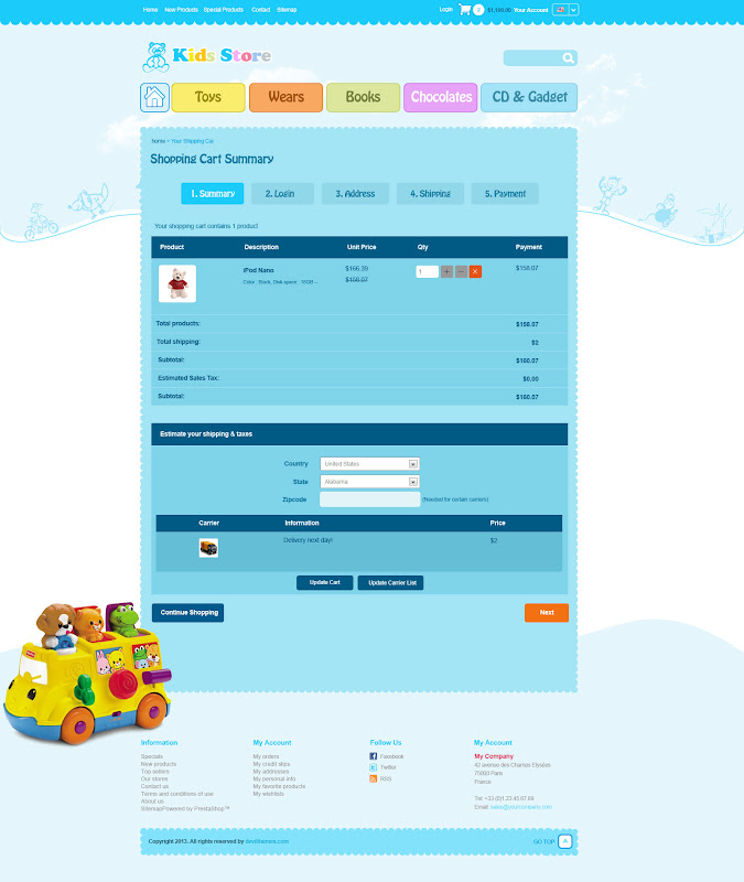 Kid Stores PSD Web Template
