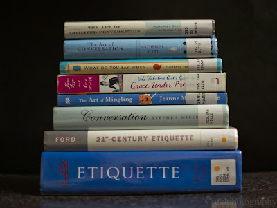 books, etiquette, conversation, manners, review, library
