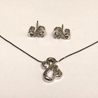 Sterling Silver Necklace & Earrings Set