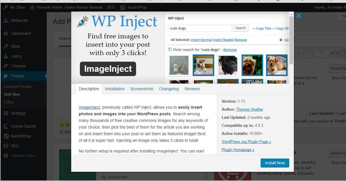 Gambar Percuma Untuk Blog WordPress Dengan Plugin ImageInject