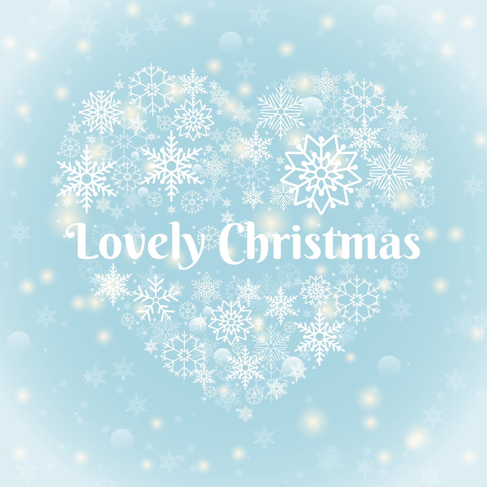 Christmas Concept Lovely Christmas Texts Heart Shape Snowflakes Sky Blue Background With Sparks Free Download Vector CDR, AI, EPS and PNG Formats