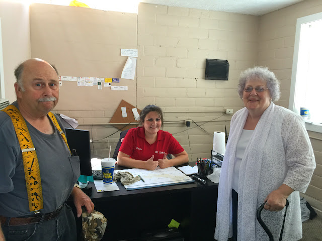 Brooke, from GI Auto in Grand Island, Nebraska, with Keith and Bev Minkler.