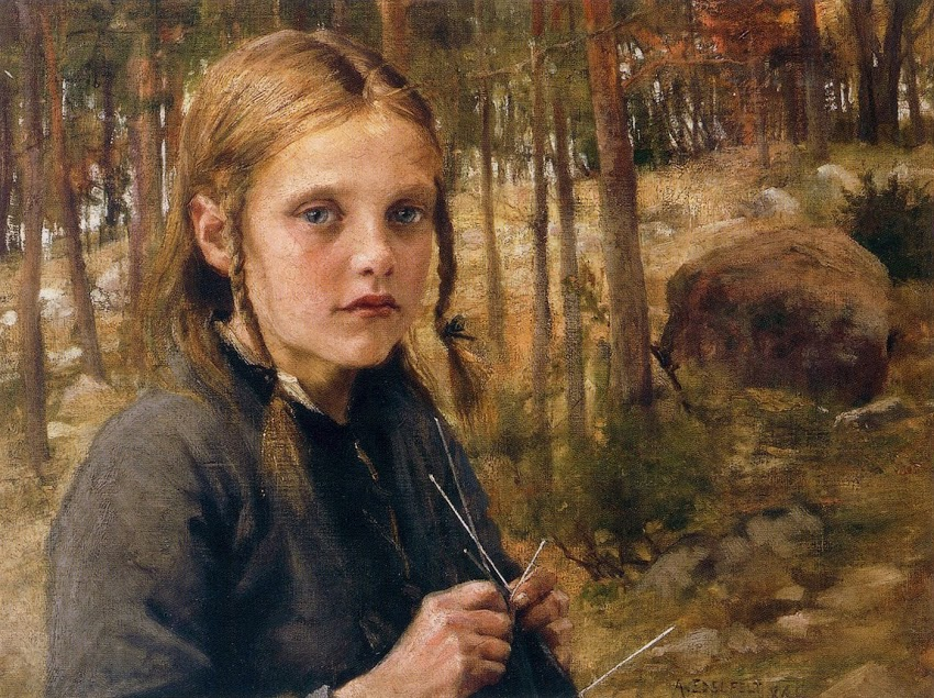 Elin Danielson-Gambogi - A Girl Knitting Socks