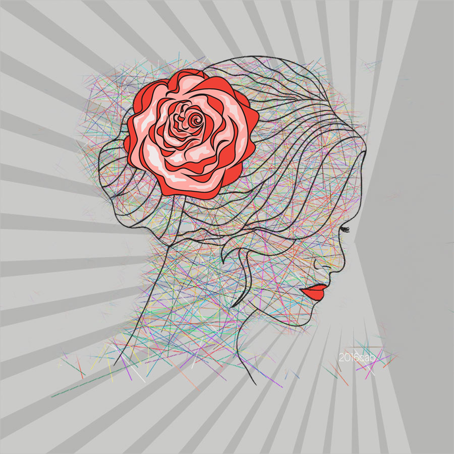 Testclod Portrait De Femme A La Rose Dessin