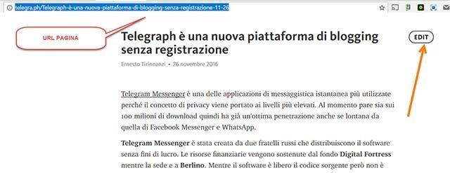 pubblicare-pagine-web-telegraph