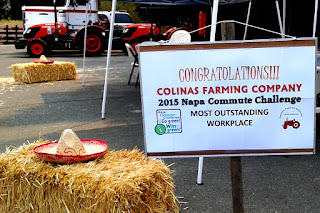 Colinas Farming Company is the Most Outstanding Workplace in the 2015 Napa Commute Challenge.
