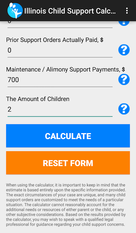 IL Child Support Calculator- screenshot