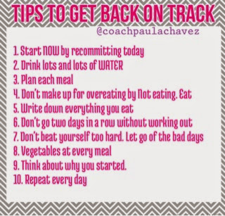 get back on track, get your diet back on track 21 day fix