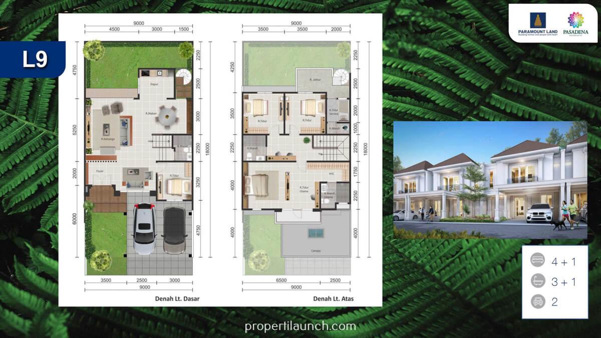 Rumah Pasadena Residences Tipe 9 Standard