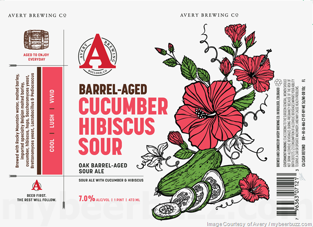 Avery Barrel-Aged Cucumber Hibiscus Sour Coming To Cans
