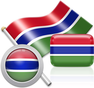Gambian flag icons pictures collection