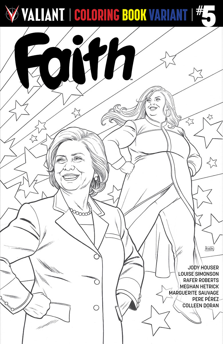 FAITH 005 VARIANT COLORING BOOK RIVERA
