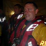 31 May 2012 - Crew Members Neil Ceconi and John Vine (in background) wearing the new ILB lifejackets. Photo: RNLI Poole/Dave Riley