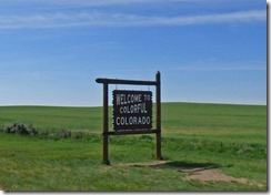 heading east-southeast on US 491, Colorado Utah Border