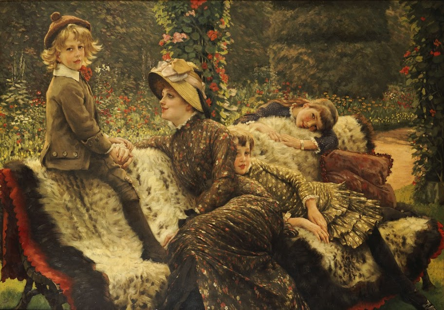 James Tissot - The Garden Bench, 1882