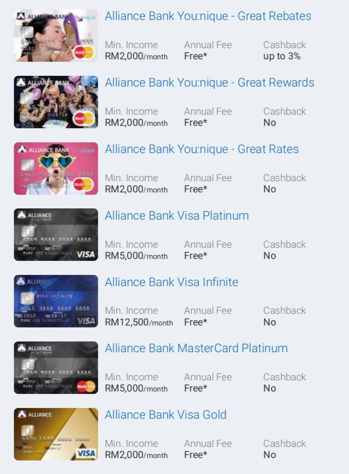 Kad Kredit Alliance Bank Popular - Mohon Secara Online