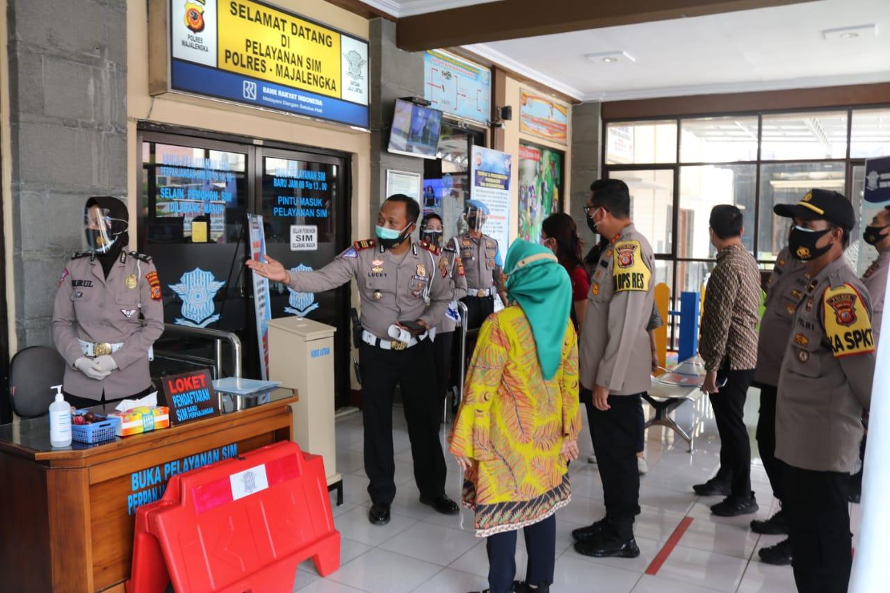 Kapolres Majalengka Terima Kunjungan Kerja Ibu Deputi 1 Bidang Pelayanan Publik Kemenpan RB