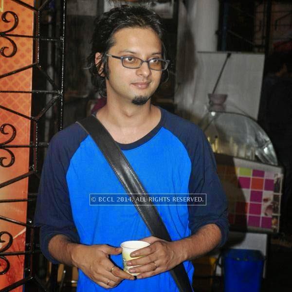 Mainak during the premiere of Ranjan Ghosh's movie Hrid Majhare at Priya in Kolkata.
