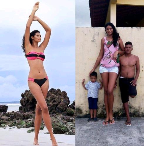 A 26-year-old model Elisane Silva, tallest woman photo