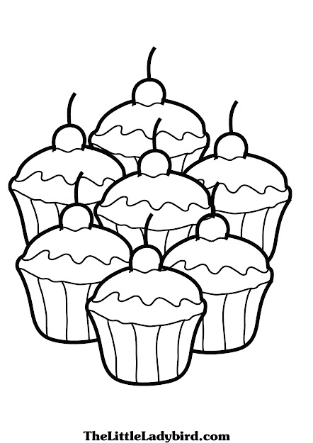 Cupcake Coloring Page Cupcake Coloring Pages Free Coloring Pages Coloring   To Download