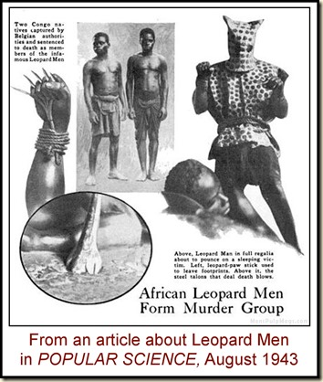 Popular Science, Aug 1943 Leopard Men article