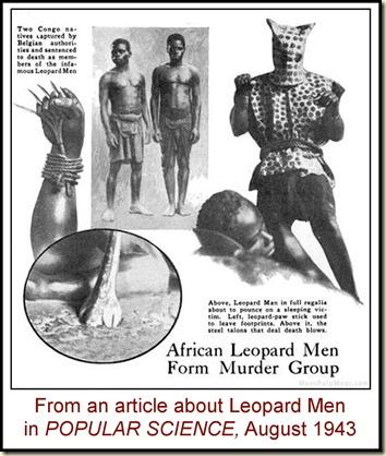 Popular Science, Aug 1943 Leopard Men article