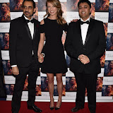 OIC - ENTSIMAGES.COM - Ashwath Bhatt, Holly Gilbert  and Director Rajan Kumar Patel at the  : Feast of Varanasi  UK film premiere during the London Asian Film Festival 5th March 2016 Photo Mobis Photos/OIC 0203 174 1069