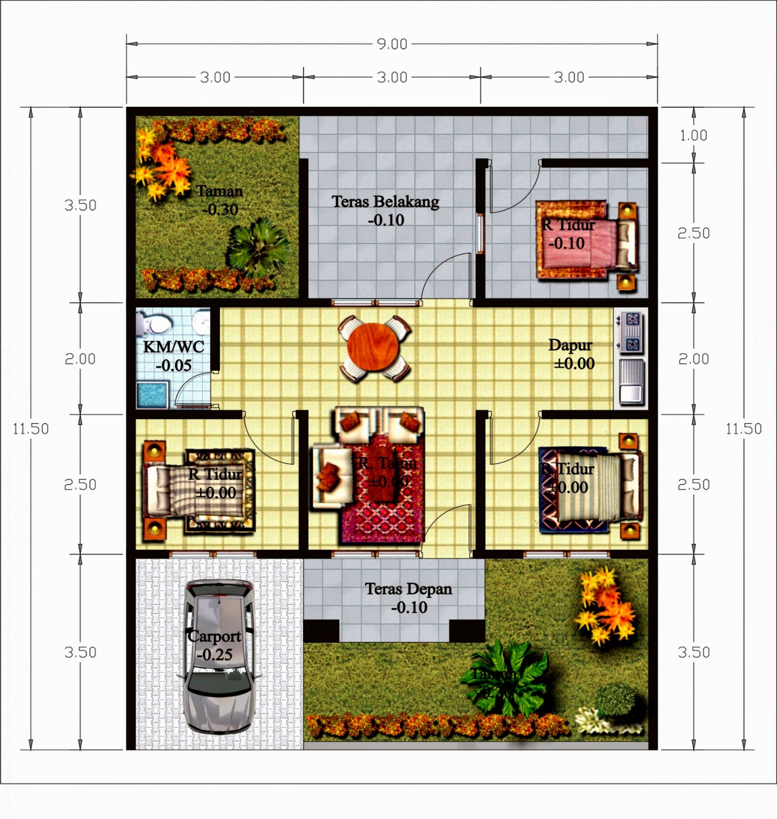 Denah Rumah Minimalis 1 Lantai Terbaru 2014 2015 Denah Rumah
